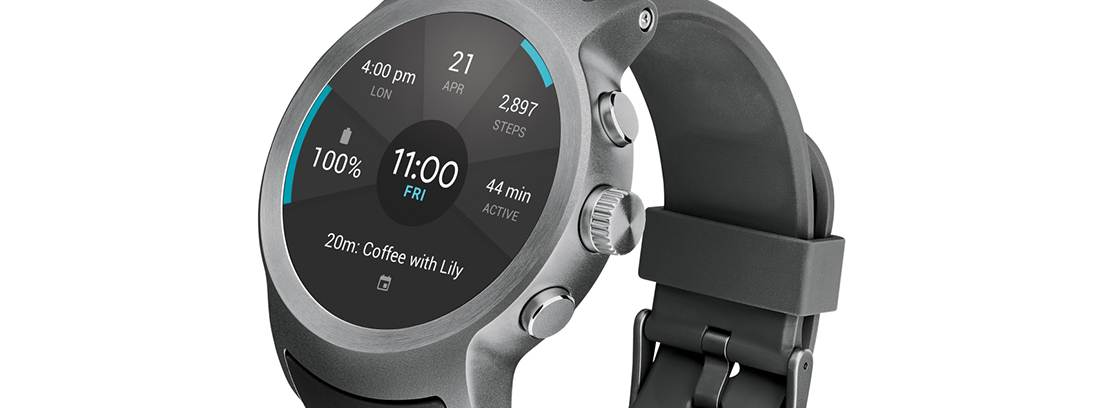 Frontal del wearable LG Watch Sport