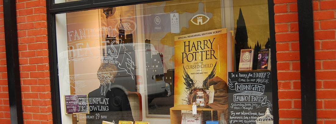 Bodegón de distintos libros de Harry Potter