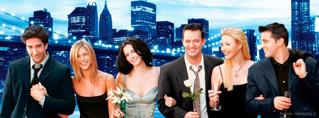Cartel promocional de la serie Friends