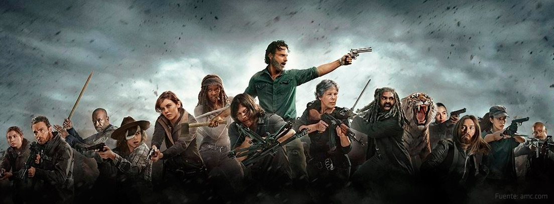 Protagonistas de la serie The Walking Dead