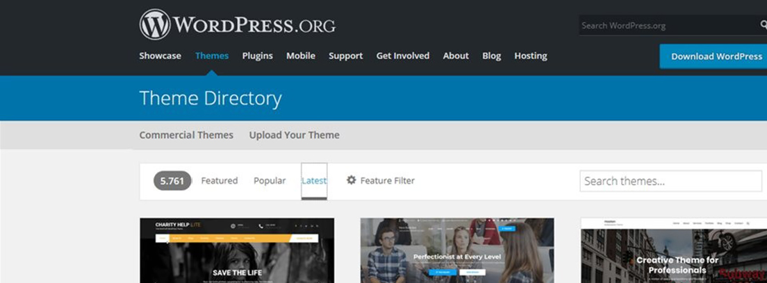 Tema Edge de WordPress
