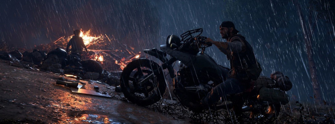 Deacon en su motocicleta en una escena de Days Gone para PS4