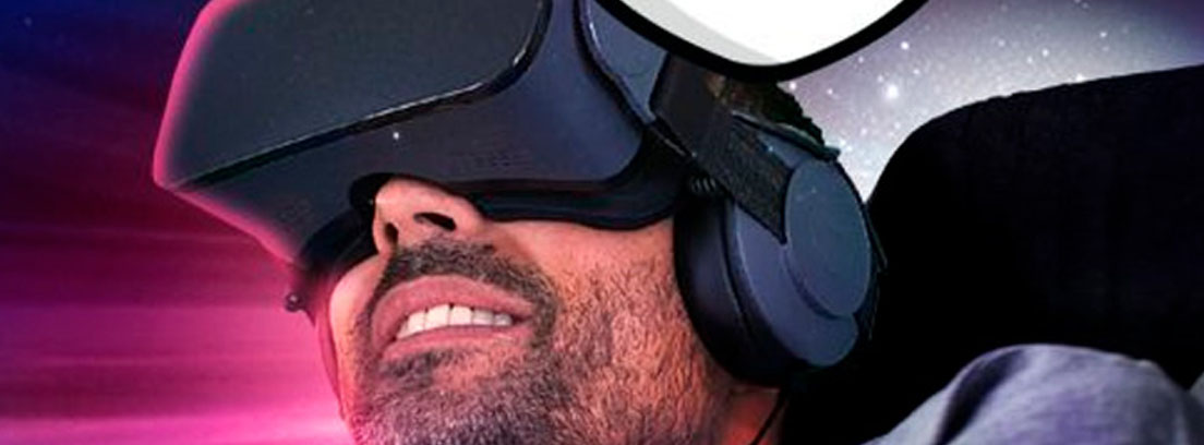 chico con gafas de realidad virtual