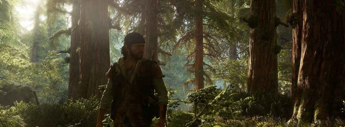 Deacon en medio de un bosque en Days Gone de PS4