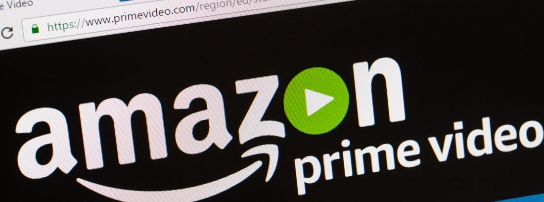 ordenador mostrando la página de Amazon Prime Video