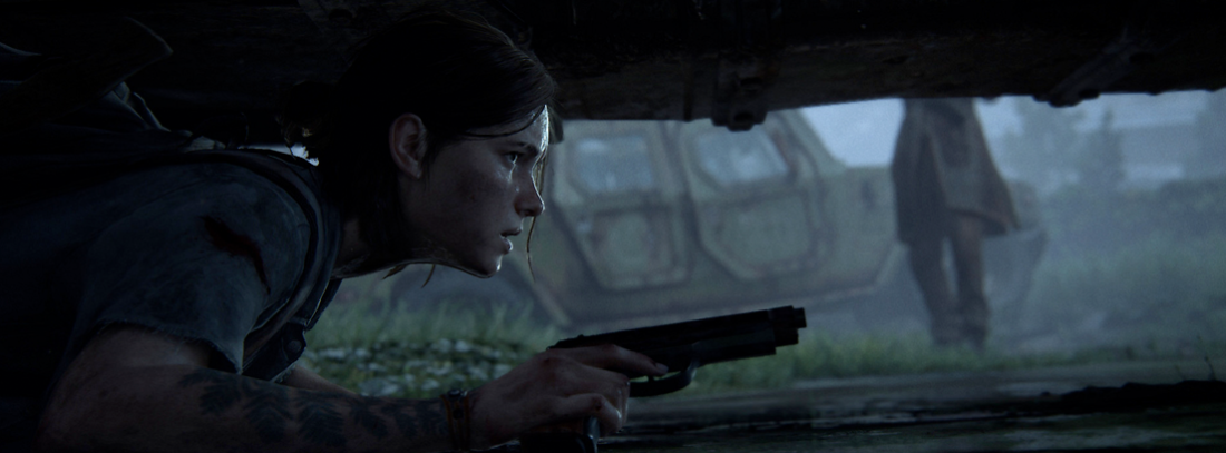 La protagonista de The Last of Us 2 escondida debajo de un coche