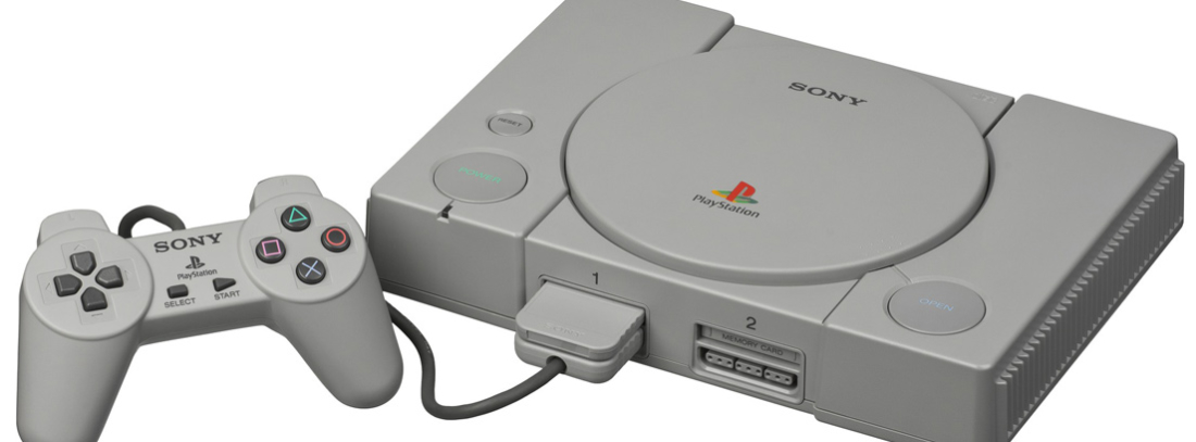 Mando y consola PlayStation en color gris