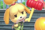 Canela de Animal Crossing golpea a Super Mario en Super Smash Bros Ultimate